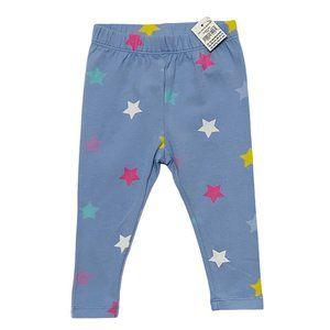 NEW Baby Gap Blue Star Print Leggings